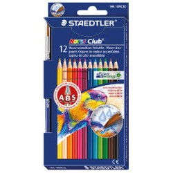 Pastelli staedtler 12 matite colorate acquerellabili noris club 144 con pennello