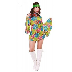Costume Carnevale Donna Hippie Flower