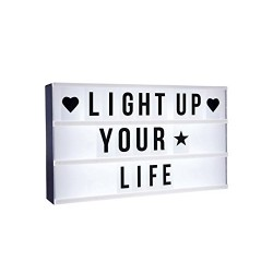 Luce Led Light Box 40x30cm 24 Led Lavagna Lettere Simboli 100pz