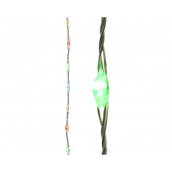 Micro Led String Filo Rame Argento 600cm 378 Led Luce Multicolor
