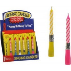 Candela musicale Happy Birthday 12cm