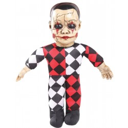 Bambolotto Clown Halloween Parlante 40cm Mostro