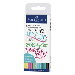 Pennarelli Pitt Artist Pen Faber Castell Be Unique Be Brave Set 6 Pz