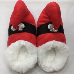 Pantofole Elfo Folletto Babbo Natale Suola Soft Rosse
