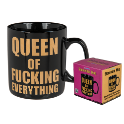Tazza ceramica Queen of Nothing Regina di Niente nero 13cm mug