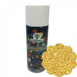 Glitter Spray Per Decorare Oro Bomboletta 400ml Natale Carnevale