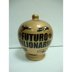 Salvadanaio Futuro Milionario money bank terracotta 17cm