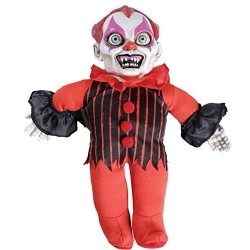 Bambola Assassina Clown Halloween Parlante 40cm Mostro