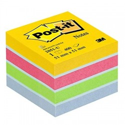 Post it mini cubo  51x51 mm 400 fogli adesivi Multicolor