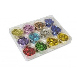 Paillettes Metallizate per découpage 8gr Colori Assortiti