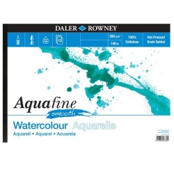 Album Acquarello Blocco A4 Aquafine 12ff 300gm Grana Satinata Smooth