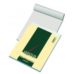 Blocco notes ariston - a5 - quadretti 5 mm - 70 fogli