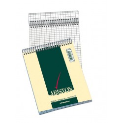 Blocco Notes ariston  spirale a6 quadretti 5 mm 60 fogli