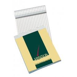 Blocco notes ariston - a6 - quadretti 5 mm - 70 fogli