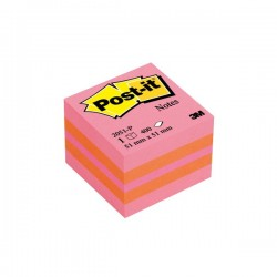 Post it mini cubo  51x51 mm 400 fogli adesivi rosa