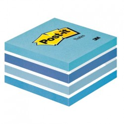 Post it cubo 76x76 mm 450 fogli adesivi pastello blu
