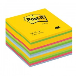 Post it cubo 76x76 mm 450 fogli adesivi ultracolor