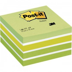 Post it cubo 76x76 mm 450 fogli adesivi pastello verde