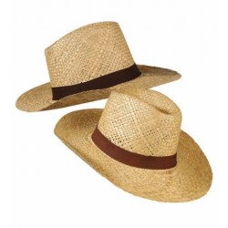 Cappello safari in paglia marrone cowboy texas carnevale widmann