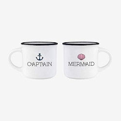 Tazzine da caffè Captain & Mermaid 2pz