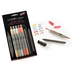Copic ciao set 5+1 manga 3 base alcolica doppia punta pantone