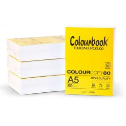 Carta Colourbook a5 80gr  risma 500 fogli
