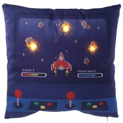 Cuscino Peluche Led Luminoso Decorativo Game Over