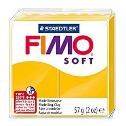 Fimo soft 57 gr staedtler panetto pasta modellabile giallo sole 16