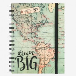 Quaderno maxi con spirale a righe Legami mappa dream big 16x21 1R
