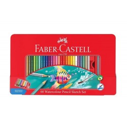 Matite Colorate Faber Castell Acquerellabili 60 Pz Pastelli