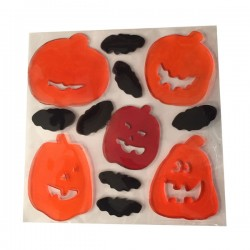 Gel decorativo halloween gelline per finestre 25x20 cm