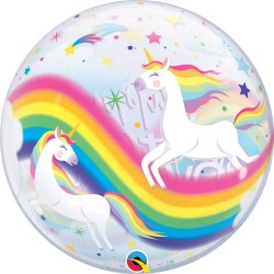 Palloncino Happy Birthday Unicorno 55cm Party Mylar Elio