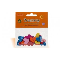 Accessori Decorativi Creativity cuori in legno 25pcs multicolor