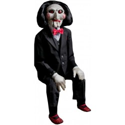 Pupazzo Saw Billy Puppet Decorazione Halloween 101cm