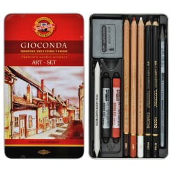 Kit 10 pz art-set gioconda h8890 koh-i-noor