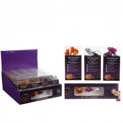 Luci led halloween 10 led fantasma zucca pipistrello