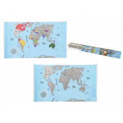 Scratch world map gratta i posti che hai visitato