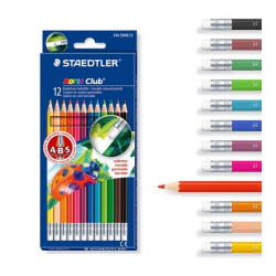 Pastelli Cancellabili matite colorate staedtler noris club 144 conf. 12pz