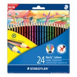 Pastelli matite colorate staedtler noris colour 24 pz