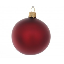 Palle vetro natale 100mm bordeaux matta box 4 pz