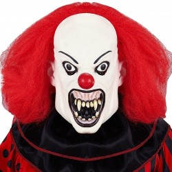 Maschera Clown It Killer Halloween Parrucca