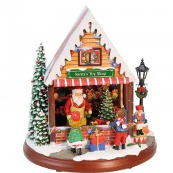 Carillon Toy Shop Polo Nord Babbo Natale Negozio