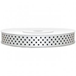 Nastro Regalo Raso Bianco Pois 40mm x 20mt