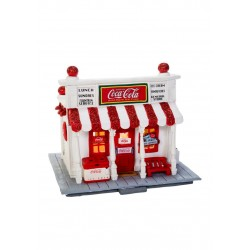 Carillon Natale Negozio Coca Cola Shop Luci Led