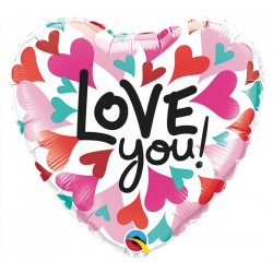 Palloncino cuore mylar 46cm i love you amore