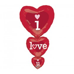Palloncino cuore rosso mylar 91cm i love you amore