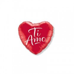 Palloncino cuore rosso mylar 46cm i love you amore