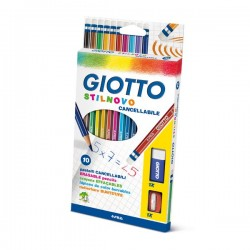 Pastelli giotto stilnovo cancellabile  3,3 mm  conf. 10 pz