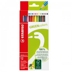 Pastelli stabilo green colors conf. 12 pz
