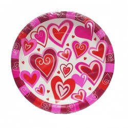 Piatti festa love party 18 cm 8pz